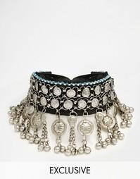 Ожерелье-чокер с металлической отделкой Reclaimed Vintage - Мульти