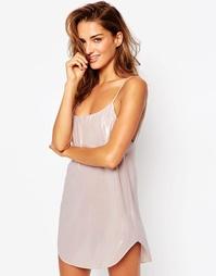 Платье-сорочка в стиле 90‑х ASOS Naomi - Розовый