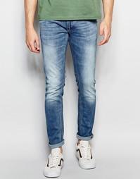 Стретчевые джинсы скинни в винтажном стиле Jack & Jones