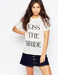 Футболка Wildfox 'Kiss The Bride' - Винтажный кружевной