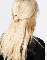 Заколка для волос со стрелками Monki - Золотой