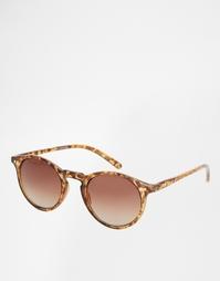 Круглые солнцезащитные очки Jack Wills Road - Коричневый