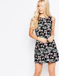 Платье с принтом фламинго Iska - Темно-синий