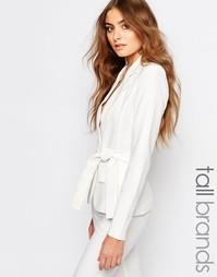 Строгий пиджак с запахом Vero Moda Tall - Белый