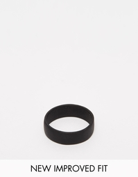 Черное матовое кольцо ASOS - Черный
