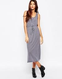 Платье с завязкой на поясе Cheap Monday - Серый меланж