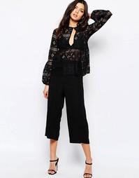 Юбка-шорты со складками Y.A.S Mila - Черный