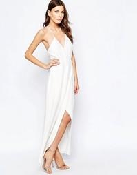 Белое платье макси Keepsake Oasis - Слоновая кость