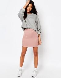 Мини-юбка в рубчик Boohoo - Сумеречно-розовый