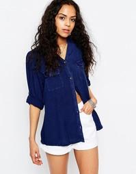Удлиненная джинсовая рубашка Brave Soul - Синий