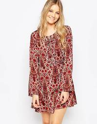 Приталенное платье с бантом Glamorous - Кремовый