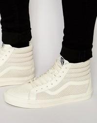 Белые высокие кроссовки со змеиным принтом Vans Sk8 V4PBIJC - Белый