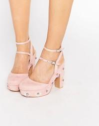Туфли с цветочной отделкой Daisy Street - Розовый