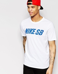 Белая футболка Nike SB Little Dude 789437-100 - Белый