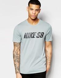 Серая футболка Nike SB Little Dude 789437-003 - Серый