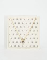 Ожерелье с подарочной открыткой Johnny Loves Rosie Bunny - Золотой