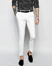 Супероблегающие эластичные брюки Noose & Monkey - Белый