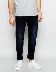 Выбеленные черные стретчевые джинсы слим Levi's Line 8 522