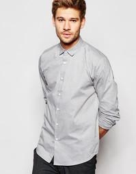 Серая меланжевая рубашка с длинными рукавами ASOS - Серый