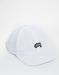 Бейсболка из пике с логотипом Stussy Stock - Белый