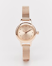 Часы с тонким ремешком ASOS - Розовое золото