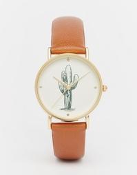 Часы с принтом кактуса на циферблате ASOS - Рыжий