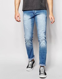 Светлые выбеленные джинсы скинни Loyalty & Faith - Синий