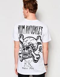Футболка с костями и черепом Rum Knuckles RK - Белый