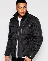 Куртка со стегаными вставками Ringspun Sermon - Черный