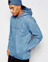 Джинсовая куртка через голову Stussy - Indigo - индиго
