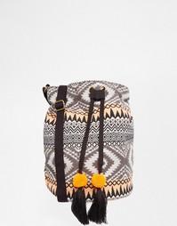 Маленькая сумка с принтом икат Glamorous - Мульти