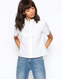 Свободная рубашка с короткими рукавами ASOS - Белый
