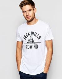 Белая футболка с принтом Jack Wills Rowing - Белый