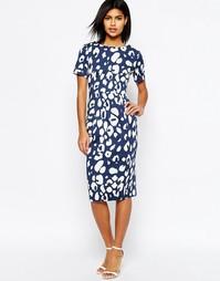 Темно-синее платье с животным принтом ASOS - Мульти
