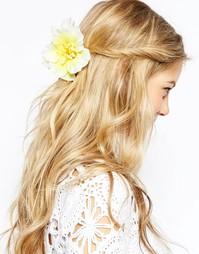 Украшение для волос с тропическими цветами ASOS - Желтый