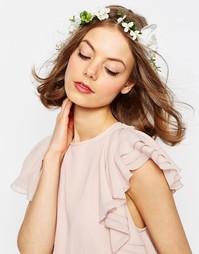 Белая повязка на голову с цветочным венком ASOS WEDDING - Белый
