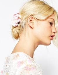 Заколка для волос с цветочной отделкой ASOS - Розовый