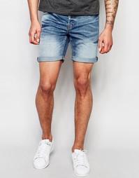 Умеренно выбеленные джинсовые шорты Only & Sons - Умеренный синий