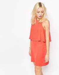 Двухслойное цельнокройное платье Influence - Peach