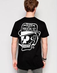 Футболка с фирменным логотипом Rum Knuckles RK 13 - Черный