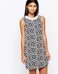 Цельнокройное платье с контрастным воротником Poppy Lux Valetta