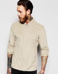 Рубашка на молнии из искусственной замши с длинными рукавами ASOS