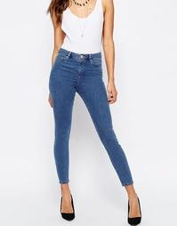 Выбеленные джинсы скинни с завышенной талией ASOS RIDLEY
