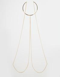 Ожерелье-чокер с драпировкой сзади Monki - Золотой