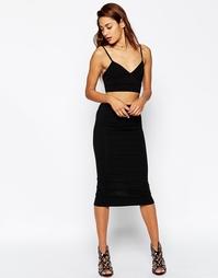 Трикотажная юбка-карандаш миди ASOS - Черный