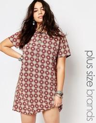 Цельнокройное платье с короткими рукавами и плиточным принтом Alice &