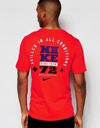 Красная футболка с принтом Nike 779743-696 - Красный