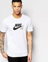 Белая футболка Nike SB DF Icon 698250-104 - Белый