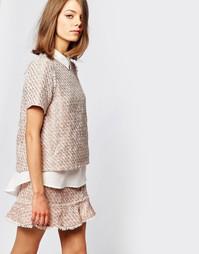 Двухслойная твидовая рубашка Sister Jane Pink Lemonade Co-Ord