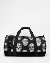 Черная сумка с принтом черепов Mi-Pac - Черный